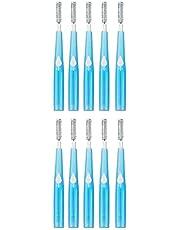 Interdentale borstels, tandzijde borstel tandenstoker borstel hoofd picks tandenborstel voor volwassenen 1.2mm blauw 10st