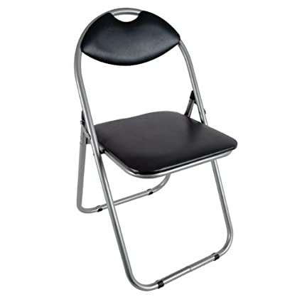 Pleasing Amazon Com New Black Faux Leather Folding Computer Office Pabps2019 Chair Design Images Pabps2019Com