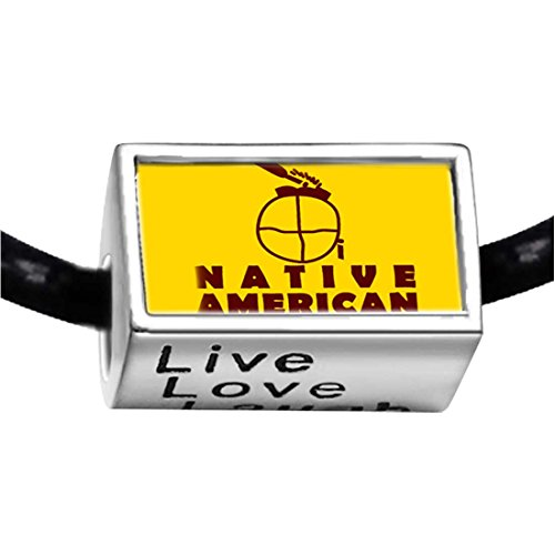 silver-plated-native-american-photo-live-love-laugh-charm-beads-bracelets-european-bracelets