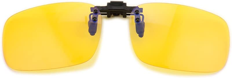 Gudzws Clip on Anti Blue Light Filter Glasses UV Blocking Anti Eye Strain Unisex