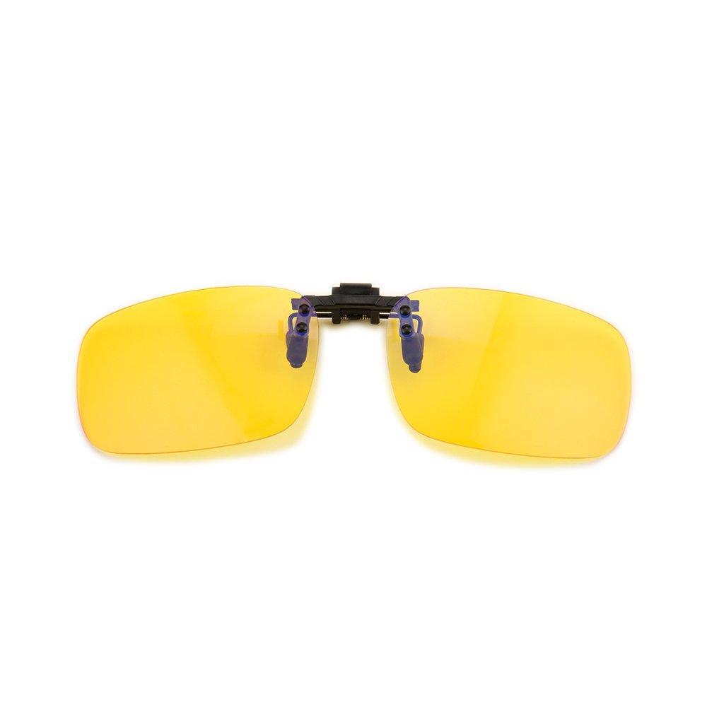 Gudzws Clip on Anti Blue Light Filter Glasses UV Blocking Anti Eye Strain Clear Lens Unisex
