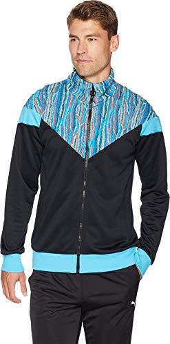 PUMA Men's PUMA X COOGI Track Jacket Puma Black/Blue Atoll Large