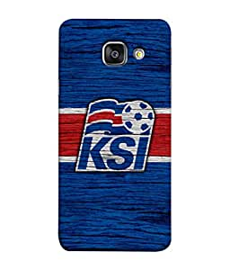 ColorKing Football Iceland 05 Blue shell case cover for Samsung A7 2016