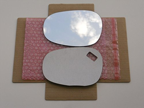 CHECK SIZE - New Replacement Mirror Glass with FULL SIZE ADHESIVE for BMW 128 135 323 328 335 M3 Driver Side View Left LH (M3 Mirror Bmw)