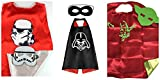 Athena Star Wars Dress Up - 3 Satin Capes and 3 Felt Masks Gift Box Included