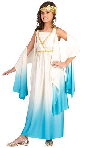 Fun World Greek Goddess Child Costume Cream Large (Halloween Costume Roman)