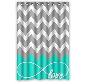 Love Infinity Forever Love Symbol Chevron Muster türkis grau weiss ...