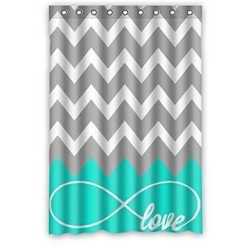 Love Infinity Forever Love Symbol Chevron Muster türkis grau ...