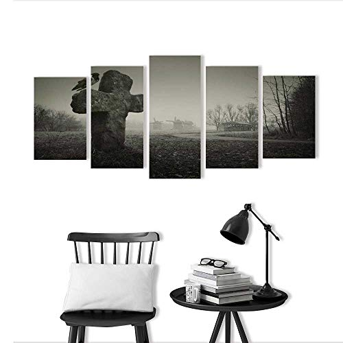 5 Piece Wall Art Painting Frameless Scary for Halloween Posters Wall Decor Gift -