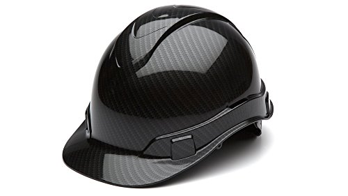 Vented Carbon Fiber - Pyramex Safety HP44117S Ridgeline Cap Style Hard Hat, One Size, Gray (Shiny Black Graphite Pattern)