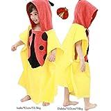 Osave Kids Cotton Hooded Bath Towel Wrap Robe Cloak Bathe Swim Bathrobe Soft 0-5 Years Child Beach Towels (Yellow)