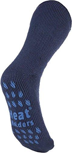 Men's Bigfoot SLIPPER Thermal Heat Holders Socks 13-15 Us Deep Blue