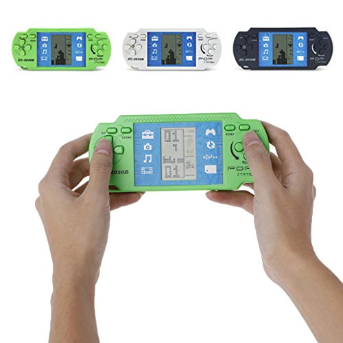BecauseOf Educational Tetris Game Handheld, LCD Electronic Brick Game Arcade Puzzle Toys