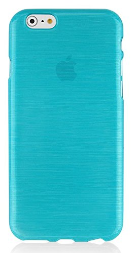 Silikon Silicon Handy Back Case Cover Schale türkis für Apple Iphone 6 6s Handy Tasche Cover Schutz Hülle Bumper türkis