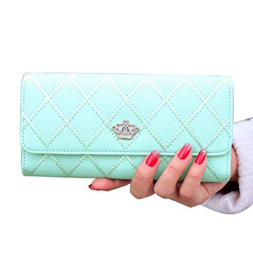 LEORX Moda donne ragazze PU lungo portafoglio borsa pochette borsetta Carta Della Borsa