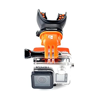 Freewell Mouth-Bite Mount for Action Camera (Orange)