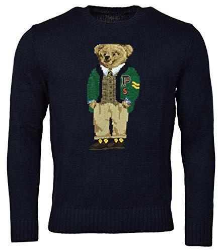 Polo Ralph Lauren Men's Letterman Bear Cotton Crewneck Sweater