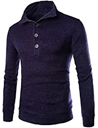 YanCui@ Men's Daily Casual Slim Fit Pullover High Collar Knitted Sweater