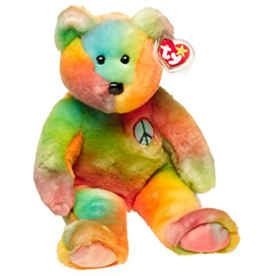 Beanie Buddies 1 X Ty Peace the Ty-Dyed Bear: Toys & Games