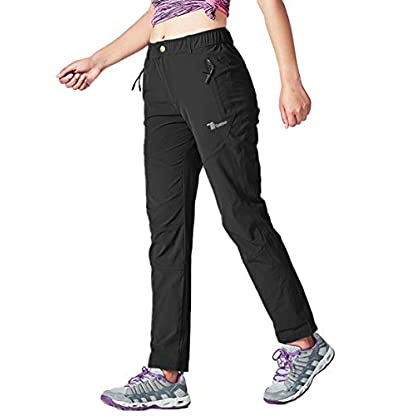 YSENTO Women's Outdoor Quick Dry Hiking Trousers Lightweight Water Resistant Walking Climbing Pants With Zipper Pockets 3