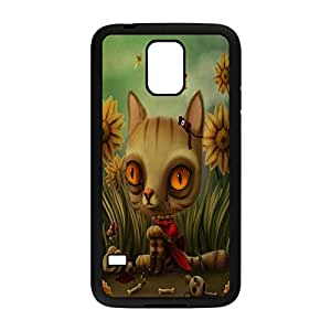 Drama Queen Custom Back Snap On Case Cover for Samsung Galaxy S5 with Design (828 Black) -92047