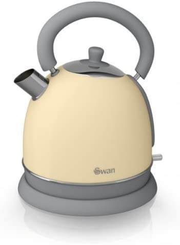 Cream Swan Retro Dome Kettle, 1.8 Litre