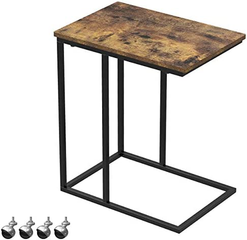 Yusong Side Table,C Shaped Mobile End Table