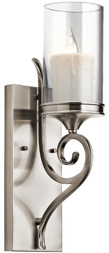 (Kichler 45362CLP Lara Wall Sconce 1-Light, Classic Pewter)