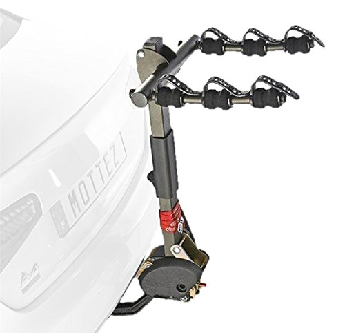 Mottez A009P3RA 3-Bike Tilting Hang On Tow Ball Mounted Cycle Carrier
