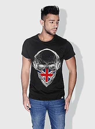 Creo Uk Skull T-Shirts For Men - S, Black