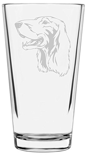 (Irish Setter Dog Themed Etched All Purpose 16oz Libbey Pint Glass)