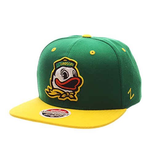 Zephyr NCAA Oregon Ducks Adult Men Z11 Snapback Hat, Adjustable, Team Color