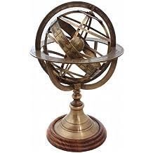 Antique Brass Armillary Globe-Table Top Nautical Armiilary Sphere-Nautical Globe