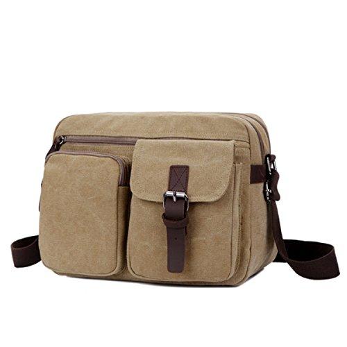 Canvas Messenger Bag A Tracolla Zaino Da Viaggio Zaino Scuri,A-OneSize