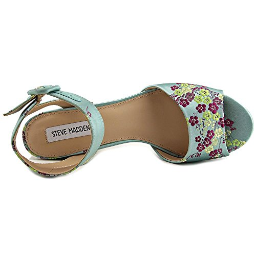 Dress Toe Womens Tickle Sandals Block Floral Open Madden Steve Heel 560PwIIqx