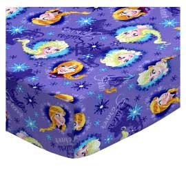 Frozen Sisters Pack N Play Fitted Sheet by SHEETWORLD.COM