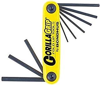 product image for Bondhus 12591 GorillaGrip Set of 9 Hex Fold-up Keys, sizes .050-3/16-Inch New