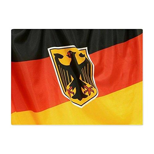 Glass Cutting Board Large German Flag Waving ()
