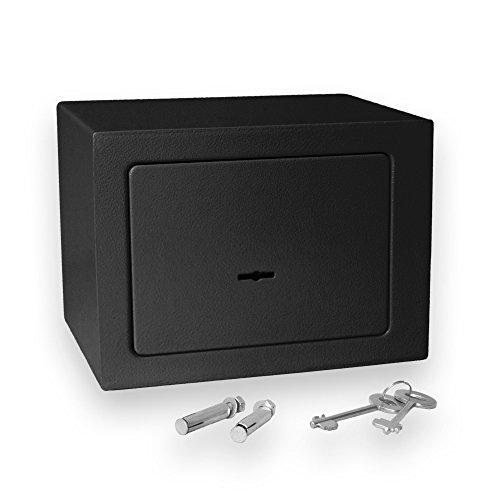 Bonzus® Minisafe Minitresor Safe Mini Safe Tresor Wandsafe Geldschrank Geldkassette BZ1 (schwarz)