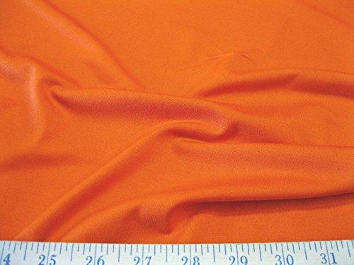Fabric Lycra Spandex 4 way stretch Solid Orange LY920