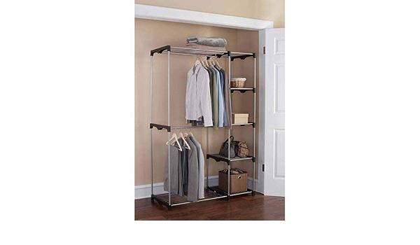 Tut estante de almacenamiento abrigos Perchero multifunci/ón para ropa antideslizante camisas y jers/éis plegable apto para colgar camisetas 5 unidades chaquetas gris
