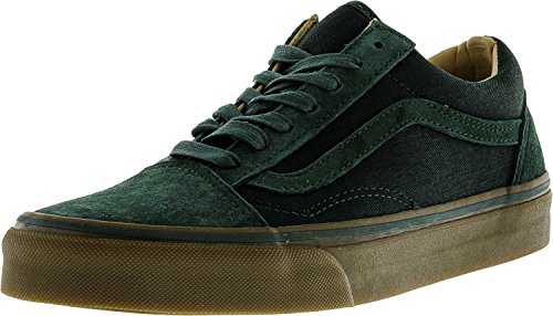 Vans Old Skool Reissue DX Coated Black Medium Gum (coated) green gables/med