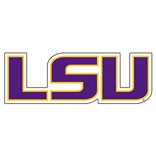 LSU Decal YEL/PUR LSU DECAL 3