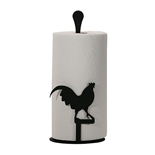 (Village Wrought Iron 14 Inch Rooster Paper Towel Stand)