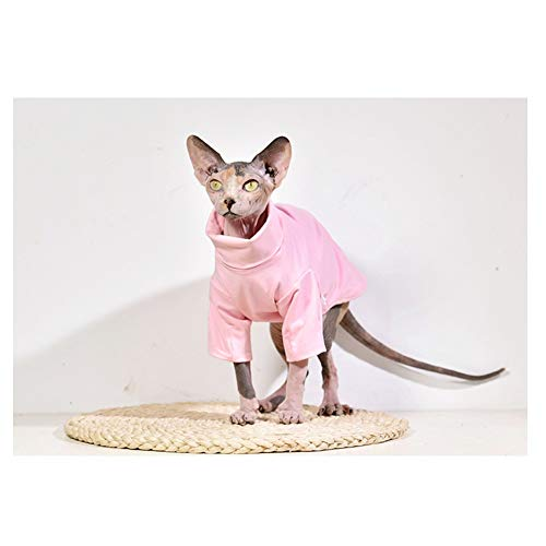 DENTRUN Hairless Cats Shirt Cat Wear Turtleneck Cat Designer Warm Clothes, Sweater Best Hairless Cat's PHijama Clothes Cat's Pajamas Jumpsuit Cat ()