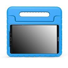"MoKo Samsung Galaxy Tab A 10.1 Case - Kids Shock Proof Convertible Handle Light Weight Super Protective Stand Cover for Samsung Galaxy Tab A 10.1"" 2016 Tablet (SM-T580/SM-T585, No Pen Version), BLUE"