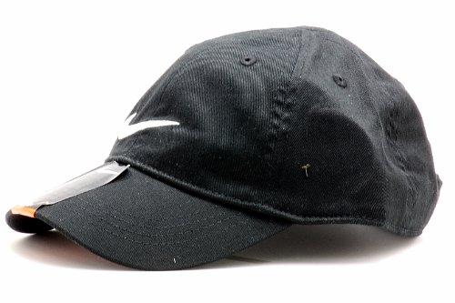 Nike 2T-4T Embroidered Swoosh Baseball Cap (Black) (Nike Hats For Boys)