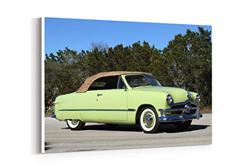 (1950 Ford Custom Deluxe Convertible Coupe Cars Classic - Canvas Wall Art Gallery Wrapped 26