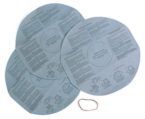 CRAFTSMAN 38766 Wet Dry Vac Filter, Reusable Dry Filter for Shop Vacuums, 3-Pack