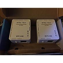 Brite-View LinkE Mini 500 Mbps Powerline Ethernet Adapter Kit BVP-5100D
